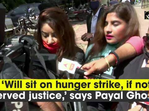 'Will sit on hunger strike, if not served justice,' says Payal Ghosh