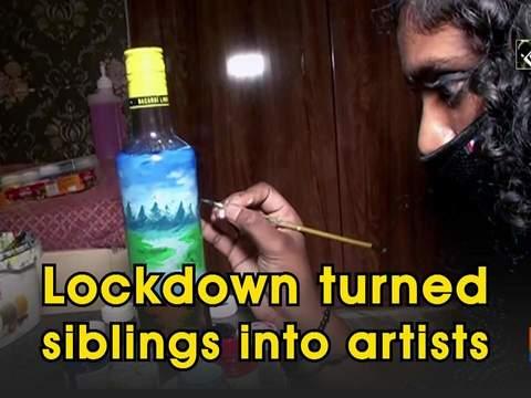 Lockdown turned siblings into artists