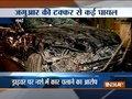 Agitated locals set ablaze Jaguar after road accident in Mumbai
