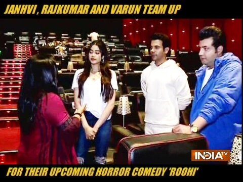 Janhvi Kapoor, Rajkumar Rao and Varun team up for their upcoming horror comedy 'Roohi'