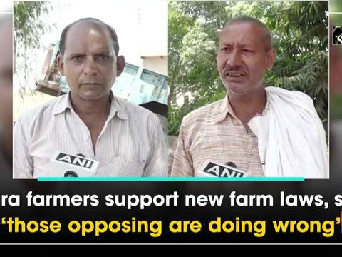 Agra farmers support new farm laws, say 'those opposing are doing wrong'