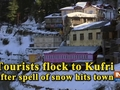 Tourists flock to Kufri after spell of snow hits town