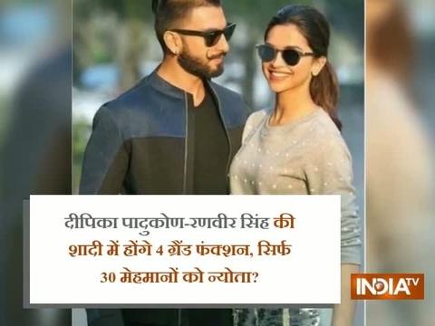 दीपिका पादुकोण-रणवीर सिंह की शादी में होंगे 4 ग्रैंड फंक्शन्स, सिर्फ 30 मेहमानों को न्योता?