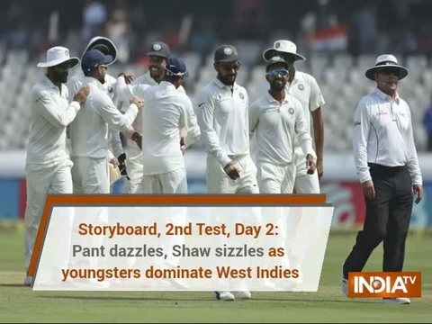 Storyboard, 2nd Test Day 2: Pant dazzles, Shaw sizzles as youngsters dominate