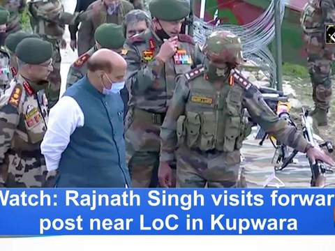 Watch: Rajnath Singh visits forward post near LoC in Kupwara