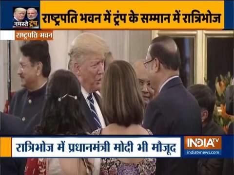 राष्ट्रपति द्वारा आयोजित डिनर पार्टी में इंडिया टीवी के चेयरमैन रजत शर्मा ने डोनाल्ड ट्रम्प से की मुलाकात