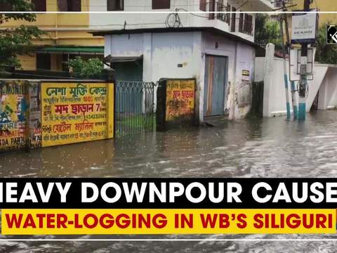 Heavy downpour causes water-logging in WB's Siliguri