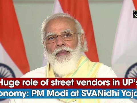 Huge role of street vendors in UP's economy: PM Modi at SVANidhi Yojana
