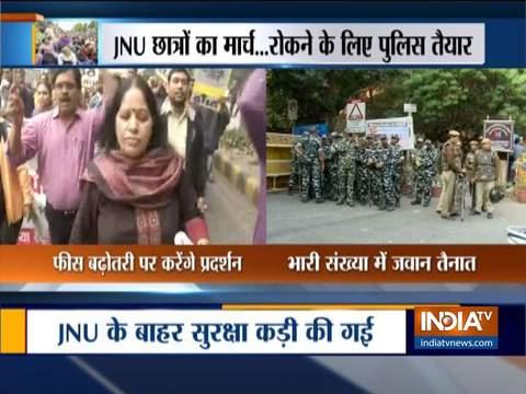 JNU छात्र आज करेंगे संसद तक मार्च