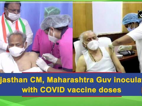 Rajasthan CM, Maharashtra Guv inoculated with COVID vaccine doses