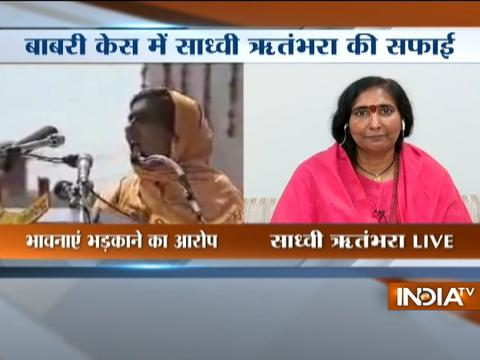 Babri Masjid Case: Sadhvi Rithambara reacts after SC revives criminal conspiracy charges
