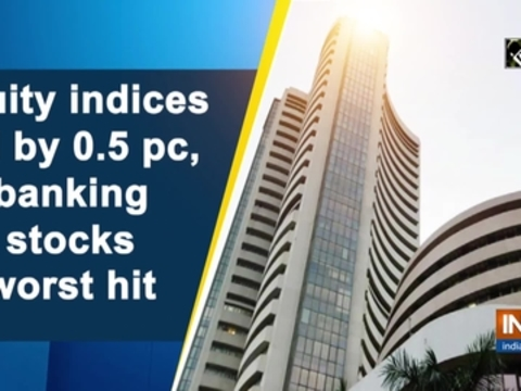 Equity indices fall by 0.5 pc, banking stocks worst hit