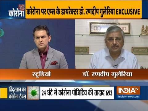 भारत अभी COVID-19 के प्रकोप के चरण 3 में प्रवेश से दूर: एम्स निदेशक