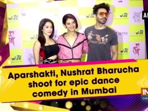 Aparshakti, Nushrat Bharucha shoot for epic dance comedy in Mumbai