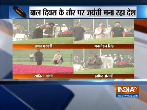 राष्ट्र मना रहा पंडित जवाहरलाल नेहरू की 130वीं जयंती