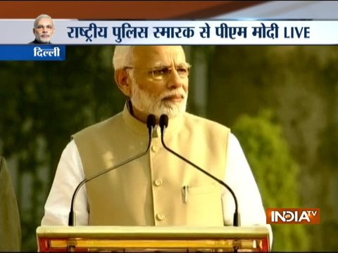 'Peace prevalent in nation is possible only due to your services,' says PM Modi