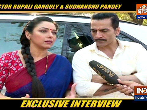 TV Actors Rupali Ganguly and Sudhanshu Pandey on their show Anupamaa