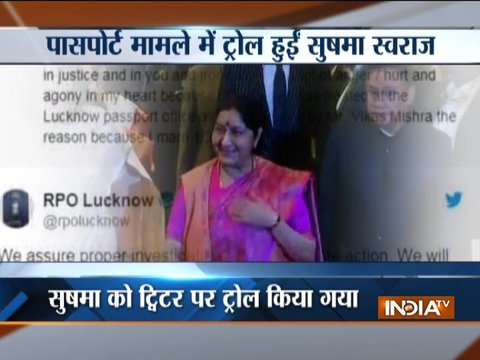 Sushma Swaraj retweets and likes messages she received after Lucknow passport row