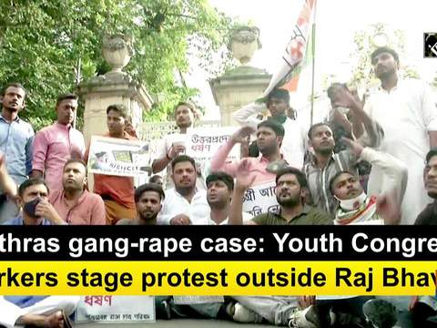 Hathras gang-rape case: Youth Congress workers stage protest outside Raj Bhavan