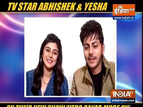 TV actors Abhishek and Yesha on their new show 'Hero Gayab Mode On'