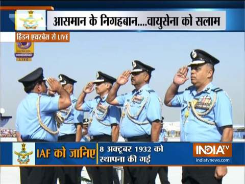 Indian Air Force celebrates 87th anniversary at Hindon Air Base in Ghaziabad