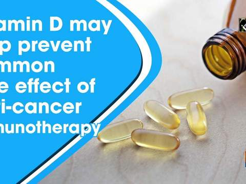 Vitamin D may help prevent common side effect of anti-cancer immunotherapy