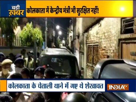 केंद्रीय मंत्री गजेंद्र शेखावत के काफिले पर टीएमसी समर्थकों ने किया हमला