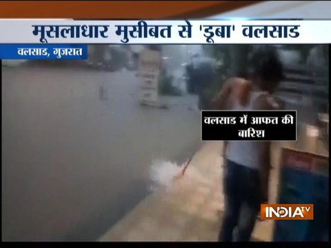 Water-logging in parts of Gujarat due to heavy rainfall