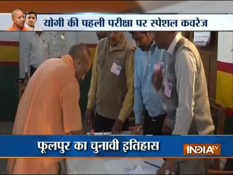 UP bypoll: CM Yogi Adityanath casts his vote for Gorakhpur bypoll