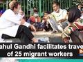 Rahul Gandhi facilitates travel of 25 migrant workers