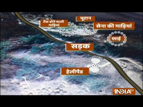 Satellite images reveal Chinese military complex in Doklam