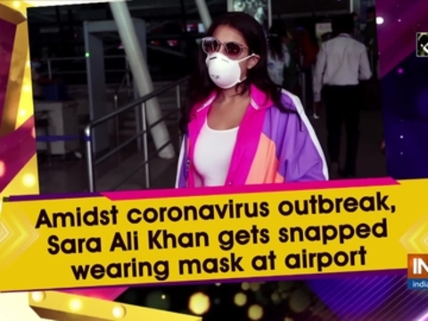 Amidst coronavirus outbreak, Sara Ali Khan gets snapped wearing mask at airport