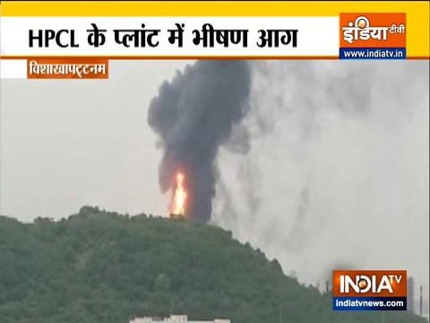 Massive fire erupts at HPCL plant in Andhra Pradesh's Vishakhapatnam