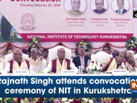 Rajnath Singh attends convocation ceremony of NIT in Kurukshetra