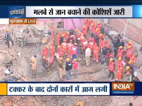 गुरुग्राम में 4 मंजिला निर्माणाधीन इमारत गिरी, 8 लोग मलबे में दबे, रेस्क्यू जारी