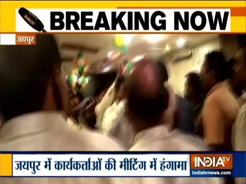 Jaipur: Clash broke out between BSP party workers