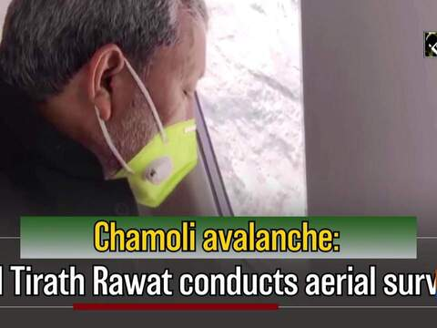Chamoli avalanche: CM Tirath Rawat conducts aerial survey