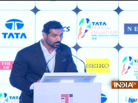 John Abraham launches anthem and logo of Mumbai Marathon