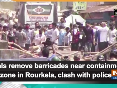 Locals remove barricades near containment zone in Rourkela, clash with police