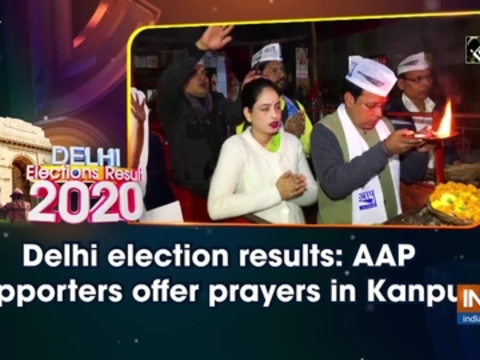 Delhi election results: AAP supporters offer prayers in Kanpur