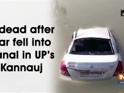 5 dead after car fell into canal in UP's Kannauj