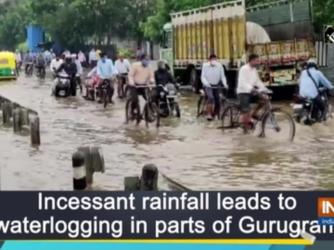 Incessant rainfall leads to waterlogging in parts of Gurugram