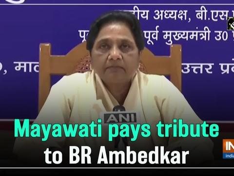 Mayawati pays tribute to BR Ambedkar on his birth anniversary