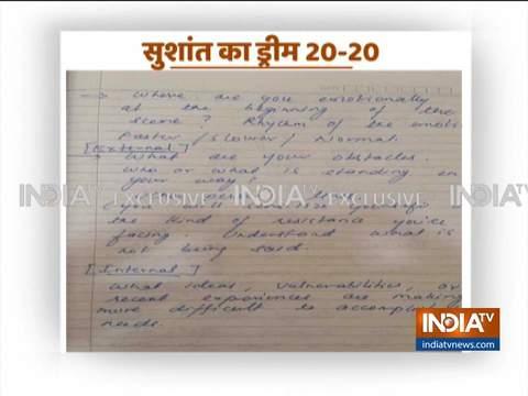 सुशांत की डायरी के 11 पन्ने आए सामने, हॉलीवुड में काम करने का बना रहे थे प्लान