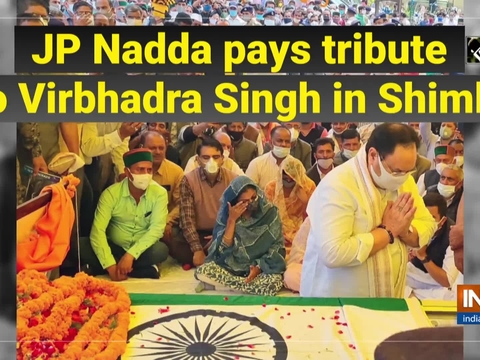 JP Nadda pays tribute to Virbhadra Singh in Shimla